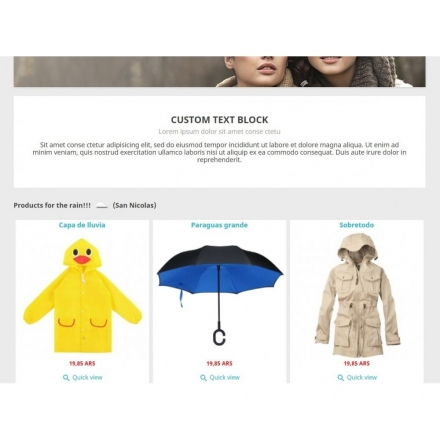 Módulo Products by Weather
